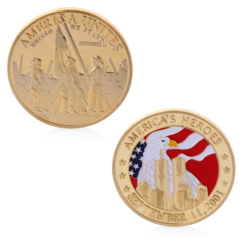 Монеты сувенир герои Америки 11 сентября 2011 памятная задача коллекция монет сувенир