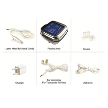 Laser medical physiotherapy equipment tinnitus rehabilitation treatment hearing loss laser watch for