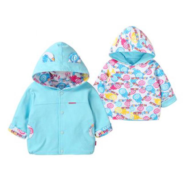 Chaqueta del bebé Para Niñas niños de Doble Cara Chaqueta Moleton infantil Ponchos Capes Poncho Suéter de la Rebeca de la Capa Que Llevaba 60D032