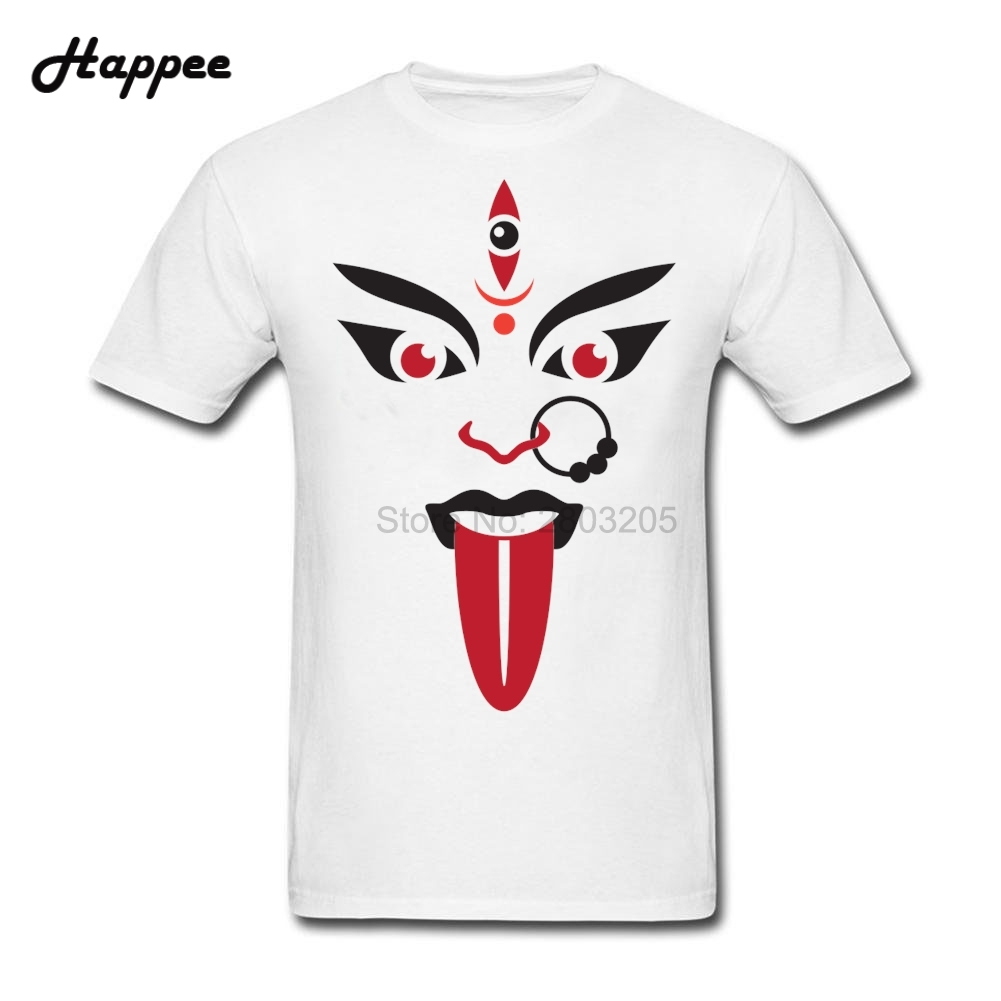 Gt86 design t shirts men s t shirt - Xs 3xl Hindu Goddess Kali T Shirt Men Short Sleeve 100 Cotton Tee Shirt Male Top Designer Oversize Tshirts Adult Tops Clothes