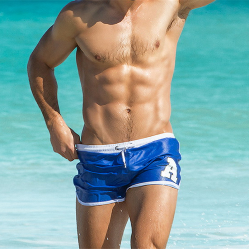 Swimwear Mens Beach   Shorts   Sexy Pocket Design Letter Masculina Men Casual Gyms Fitness Bathing Trunks Summer   Board     Shorts