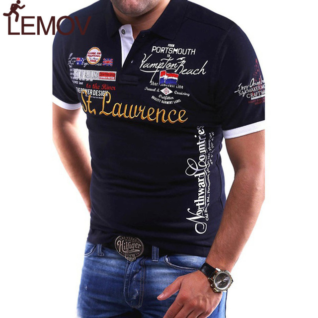 a2f7709b8 US $6.33 47% OFF|LEMOV New Men's Running T Shirts Slim Fit Short Sleeve Gym  Shirt Fashion Printed Cotton Casual Male Sport Shirts Workout Shirt-in ...
