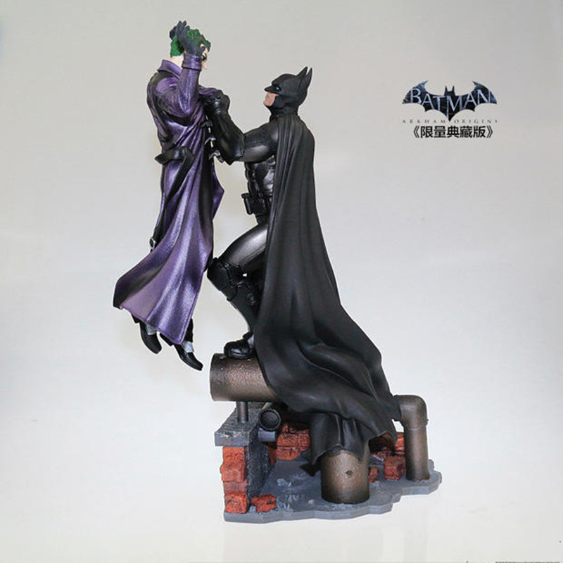 The Dark Knight Agam Origin of Asylum Model Batman VS Joker Deluxe Statue Blister Collection Figures H 32cm hot wheels batman 3 pack cars includes bone shaker special the joker edition the dark knight batmobile and ford fusion