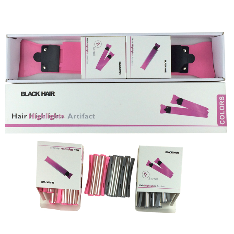 Professional Hair Coloring Tool Set Hair Dye Roll In 2 Paddle Roll Meches P-24 For Hair Salon 24 Pcs Roll For Hairstyling
