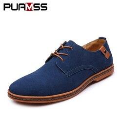 Брендовая Мужская обувь в английском стиле модная повседневная обувь мужские замши Оксфорд Кожаные модельные туфли обувь Zapatillas Для мужчин ...