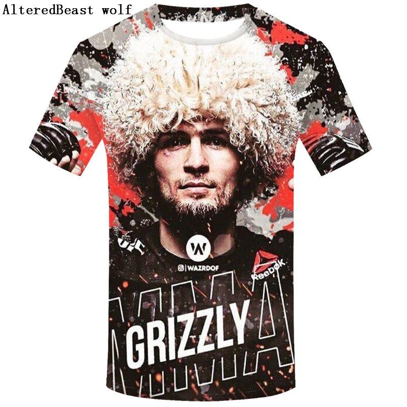 2019 Fashion Design Khabib Nurmagomedov 3d T Shirt Men Short Sleeves T-shirt Print Khabib Tee Shirts Casual Summer  3d Tshirt