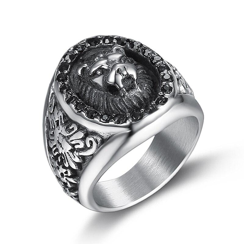 lion head rings for men (1)