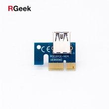 1X X1 PCI-e Riser De 180 Graus Adaptador De Placa Riser PCI para USB Para Riser 006 006C 008 007S S райзер для видеокарты