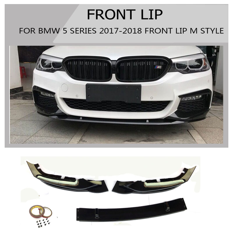 Hot Sale Abs Front Lip Spoiler 3 Pcs Chin For Bmw 5 Series G30 G38
