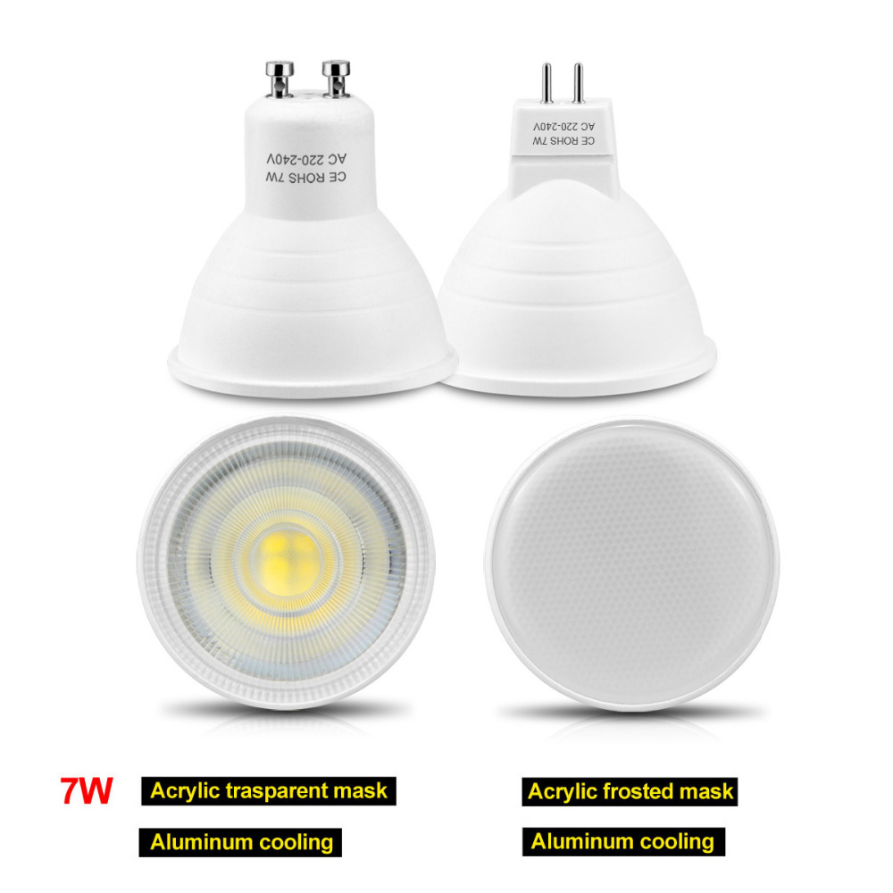 GU5.3 GU10 MR16 220V LED spotlight 3W 4W 5W 7W LED light Lamp LED ...