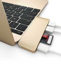 Hub USB de alta Velocidad 3.0 USB Tipo C C 5 en 1 Combo Hub con Tarjeta de Puerto de Carga para el Macbook de 12 Pulgadas 13 Pulgadas lector