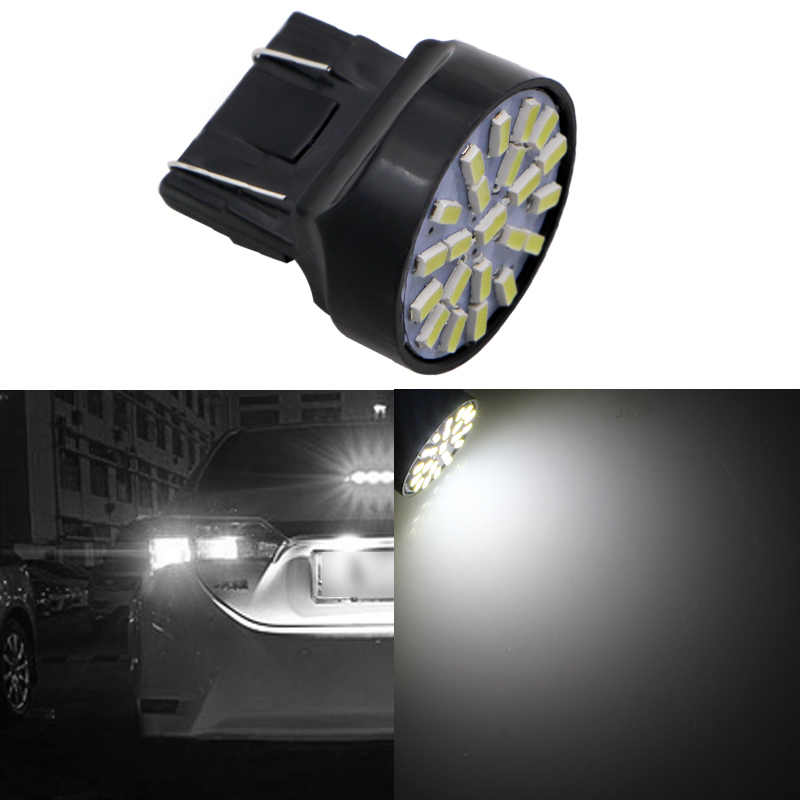1X 12V T20 W21/5W Auto Car Styling Lighting 7443 22 LEDS SMD 3020 1206 Brake Parking Lignt Xenon White Car Accessories