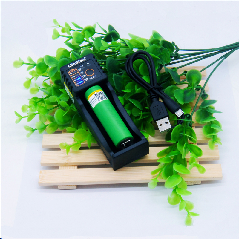 LiitoKala Lii-100 battery charger+ VTC6 3.7V 3000mAh rechargeable Li-ion battery 18650 for Sony US18650VTC6 30A Toys flashlight