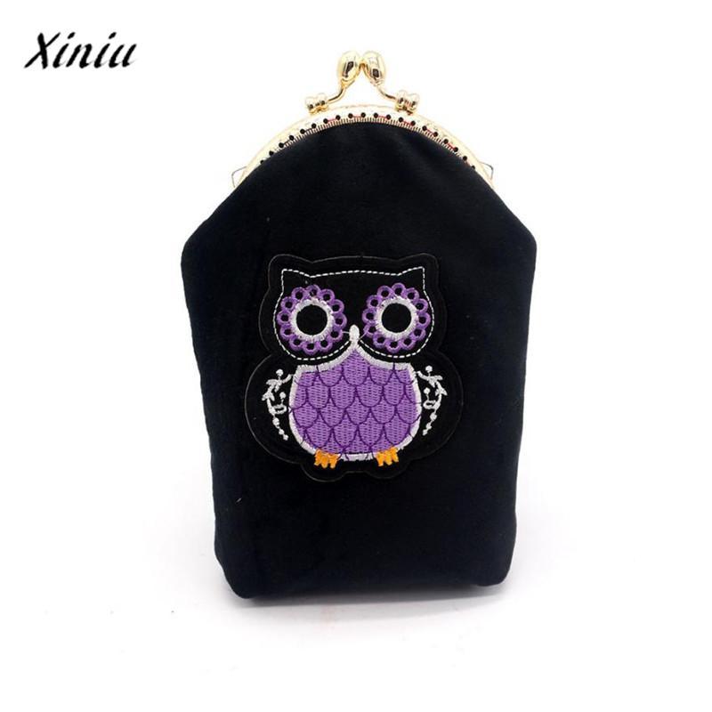 xiniu Women Lady Flannel Small Wallet cat purse coin wallet womens wallets Hasp Purse Clutch Bag Phone Bag