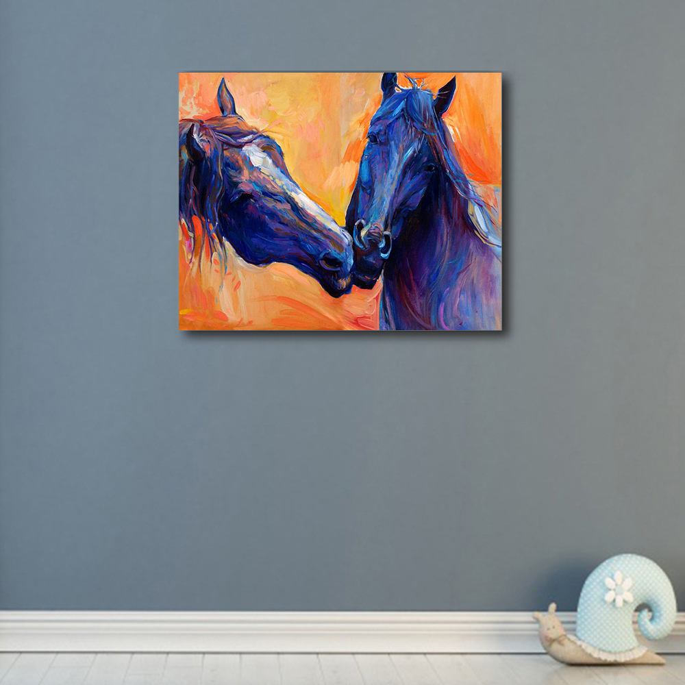 Laeacco Animal Posters and Prints Watercolor House Wall Artwork Canvas Painting For Home Living Room Decoration in Painting Calligraphy from Home Garden