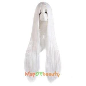 """Image 5 - MapofBeauty 39 """"100 см длинные прямые парики для женщин черный коричневый белый парик для косплея Женские синтетические волосы поддельные шиньоны розовая сетка"""