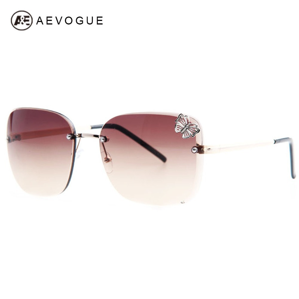 Sunglasses Las Fashion  aliexpress com aevogue newest brand design rimless fashion
