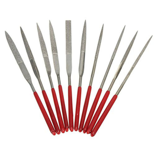 Handwerkzeuge Dateien Fixmee 10 Stücke 140mm Diamant Mini Nadelfeile Set Handliche Werkzeuge Für Keramik Glas Edelstein Hobby Und Handwerk äSthetisches Aussehen