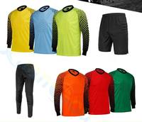 Men Kid Soccer Goalkeeper Jerseys Football Sponge Protector Suit Camisetas De Futbol Jersey Goal Keeper Uniforms