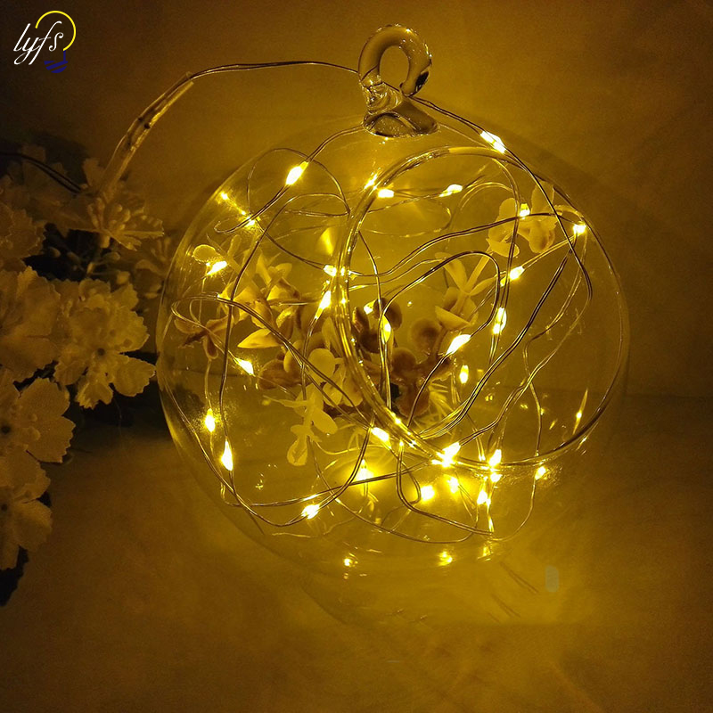 LYFS 2M 20 LED Starry String Lights Battery Power Transparent Copper Wire Fairy For Party Christmas Wedding Garland