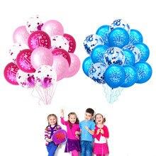 10/15 stücke Mädchen Junge 1st Geburtstag Luftballons Rosa Blau Konfetti Latex Ballon 1 Jahr Alt Erste Geburtstag Party Decor Baby dusche Versorgung