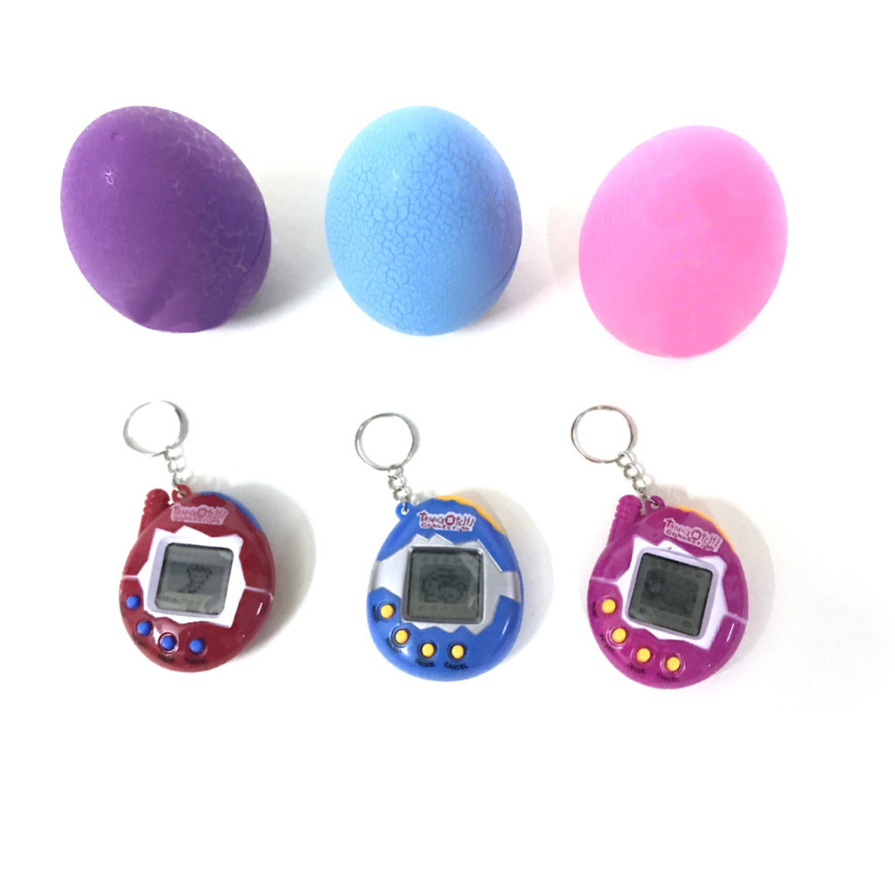 MINOCOOL Multi-colors Flash Dinosaur Egg Virtual Cyber Digital Pet Game Toy Tamagotchis Digital Electronic E-Pet Christmas Gift