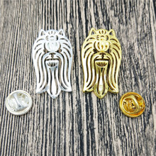LPHZQH Fashion Yorkshire Terrier Dog Broches and pins Brooch Collar Lapel Pin Jewelery Clothing Accessories Men's Gift