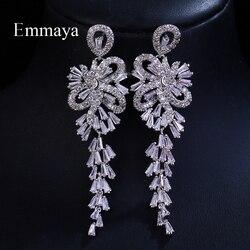 Emmaya marca tradição elegância aaa zircão cúbico branco ouro cor firecracker pingente brincos para mulheres presente de jóias de casamento