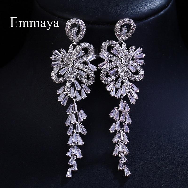ecee518552cb Emmaya marca tradición elegancia AAA Cubic Zircon oro blanco Color petardo  colgante pendientes para las mujeres boda joyería regalo