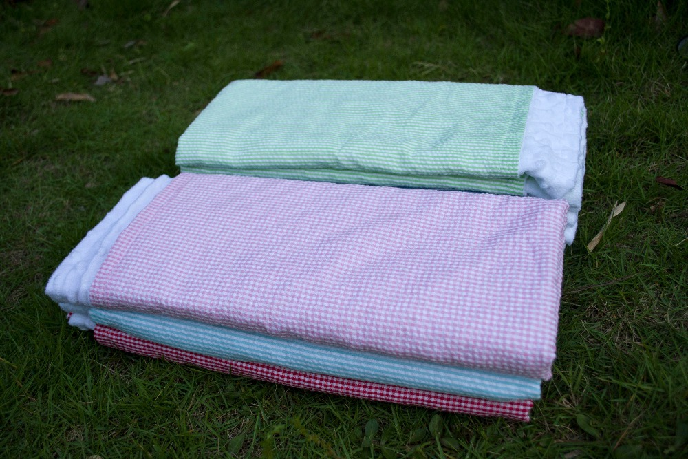 Newborn Swaddle Wrap Sleeping Bag Infant Baby Product Boys Girls Sleep Sack Bedding Fits Car Seat Seersucker Minky Baby Blanket