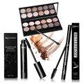 Women Value Pack Makeup Set 12 Color Eyeshadow+Sexy Eyeliner Pen+Mascara With 12 Mascara Brushes Kit Portable Eye Cosmetic Set