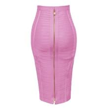 12 цветов размера плюс XL XXL Сексуальная однотонная на молнии оранжевая синяя черная бандажная юбка Женская эластичная облегающая летняя юбка-карандаш 58 см