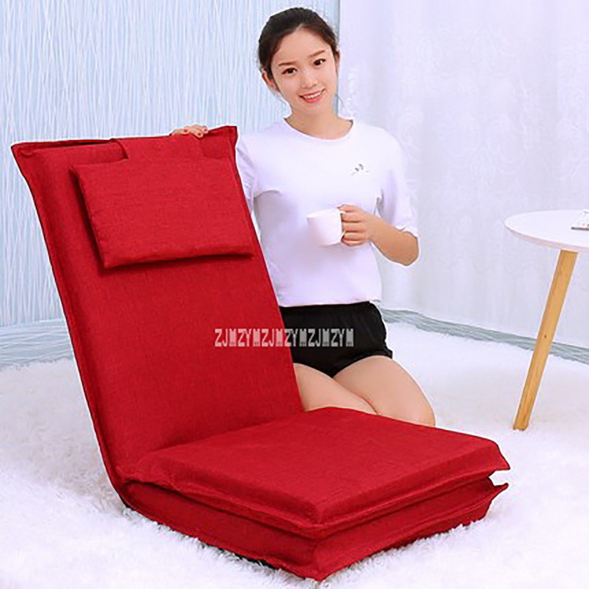 Foldable Lengthened Backrest Lazy Sofa Living Room Modern Tatami Chair Bedroom Simple Home 5-Gear Adjustment Chaise LoungeFoldable Lengthened Backrest Lazy Sofa Living Room Modern Tatami Chair Bedroom Simple Home 5-Gear Adjustment Chaise Lounge