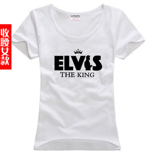 free shipping printing letters basic shirt plus size woman women female sitcoms elvis costello short-sleeve T-shirt