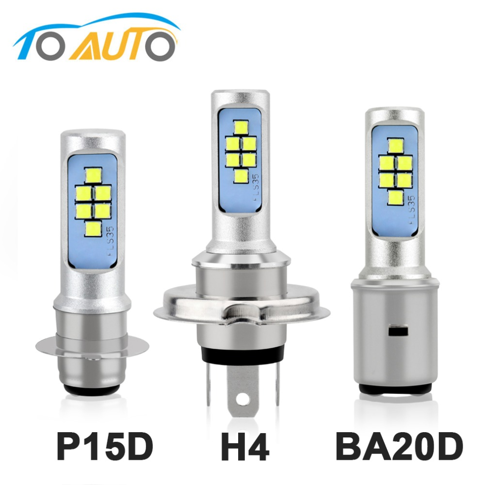 H4 H6 P15D BA20D Led Bulb Motorcycle Headlight Canbus Fog Light White 1200LM Hi Lo Lamp Scooter Accessories Moto DRL For Suzuki