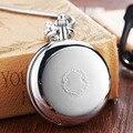 Серебристые светящиеся медные Механические карманные часы для мужчин и женщин винтажные двухсторонние гравированный Брелок с цепочкой ск...