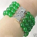 "new style postage 4 Rows Natural DIY 8mm Jade bracelet 7.5"" beads jewelry making MY2088"