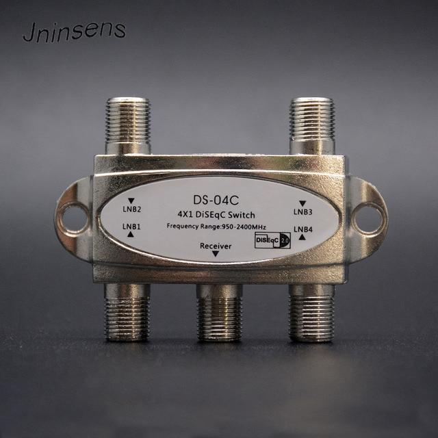 Jninsens Original Zinc 4*1 DiSEqC 2.0 Switch Satellite TV Digital Satellite Receiver FTA Satellite Receiver Diseqc 4x1 Satellite