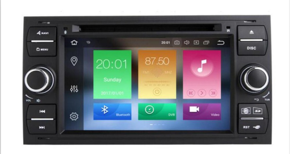 Pure Android 8.1 Car DVD <font><b>GPS</b></font> Navi Player Stereo Radio Audio 4G For <font><b>Ford</b></font> <font><b>Focus</b></font> 2 Mondeo S <font><b>C</b></font> <font><b>Max</b></font> Fiesta Galaxy Connect With Camera image