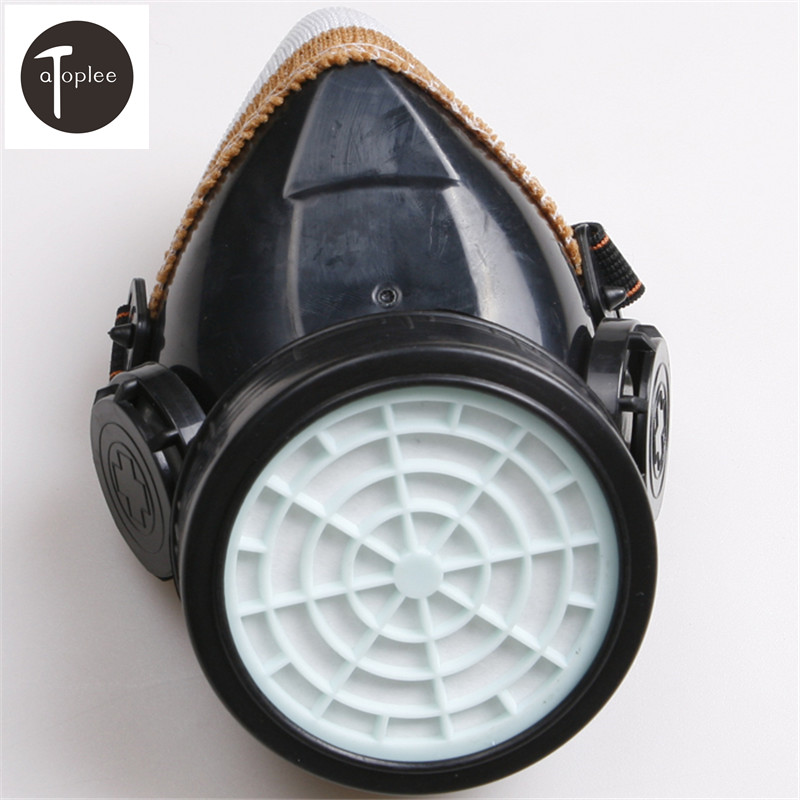 1PCS Single Cartridge Gas Mask PVC Safety Filter Cotton Mask Chemical Respirator Anti-Dust Filtration Gas Clean Air Tools new safurance protection filter dual gas mask chemical gas anti dust paint respirator face mask with goggles workplace safety