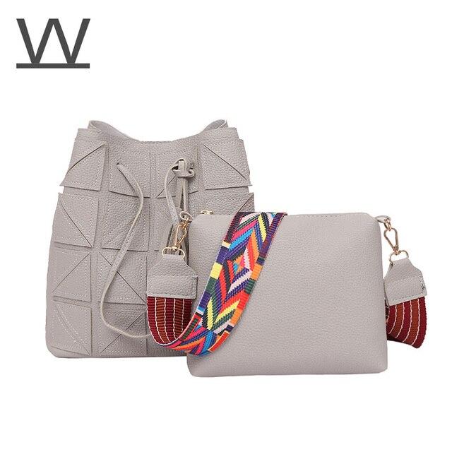 54abb8caa99b Luxury Brand Designer Bucket bag Women Leather Wide Strap Shoulder Bag  Handbag Large Capacity Crossbody Bag