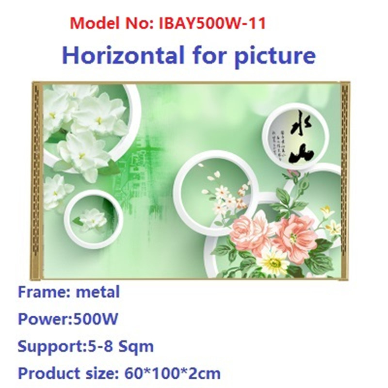 N500W-11,2 PCS/lot,Free shipping,wall mount crystal,warm wall with picture,Infrared heater,carbon crystal heater,with thermostat цена и фото