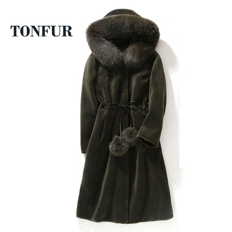 2018 De Top Long Réel Col Factory Wsr149 Haute Chaud Qualité Sortie Fox Véritable Fashion Femmes Fourrure Manteau Direct Moutons 1BqF1r