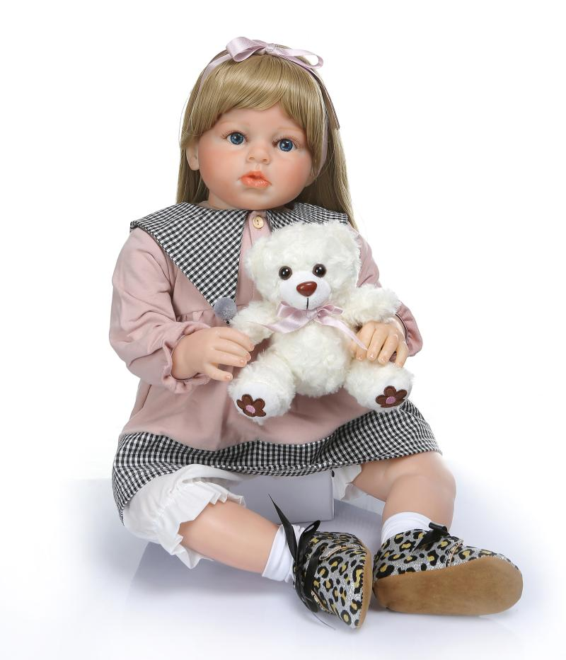 70 cm 28 pouces Reborn bébé poupée bébé Reborn Silicone inteiro bébé vivant Boneca Reborn bambin jouets pour enfants Brinquedos Juguetes