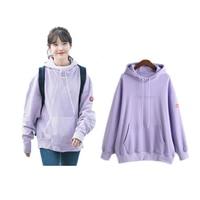 New kpop IU The Same Around Preppy Style Sweatershirt Loose Hoodie Spring and Autumn moletom Coat Embroidery Hoody roupas