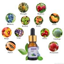 Aceite Esencial de melocotón de fruta de 10ml para humidificador para difusor aromaterapia aliviar el estrés para el cuidado de la piel de la piña cereza aceite TSLM2