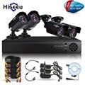 KIT 4CH CCTV Sistema HD 1500TVL = 960 P Bala IR Ao Ar Livre Câmera de Vigilância CCTV Sistema de Segurança HDMI VGA