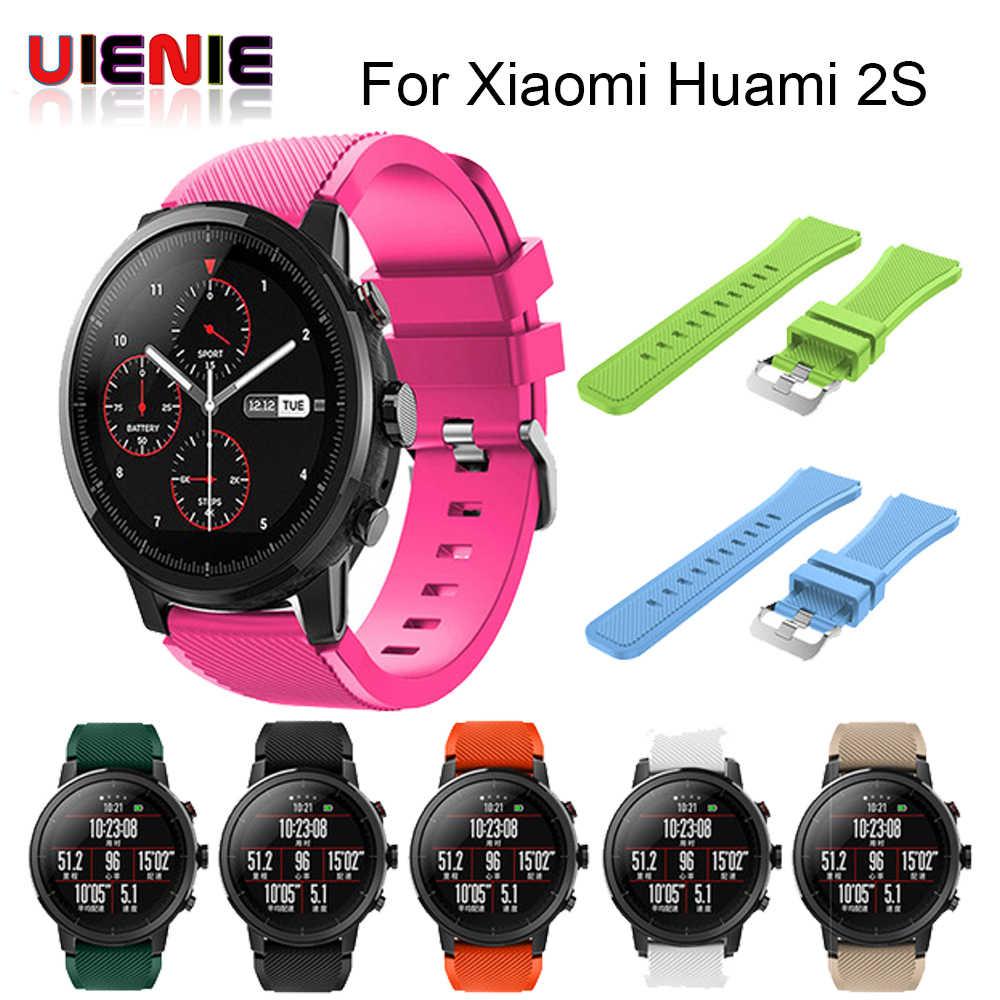687ada6b0d75 Suave de Silicagel reloj deportivo correa para Huami Amazfit Stratos reloj  inteligente para Amazfit Pace Stratos