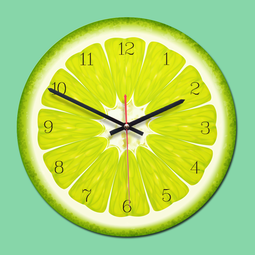 Hot Deal 212aa Decor A La Maison Salon Horloge Fruits Tropicaux