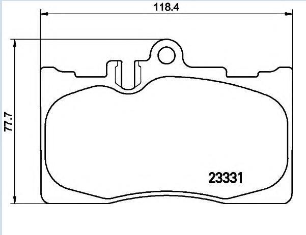 Pastilhas de freio PF-1455 LEXUS LS